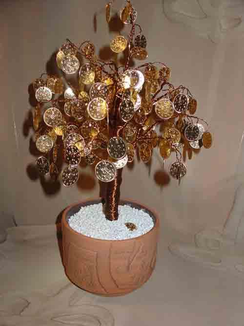 Как сделать из бисера денежное дерево своими руками