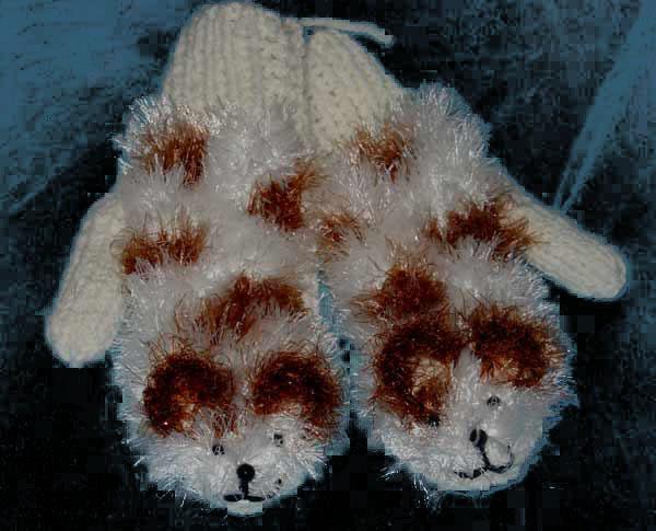 Варежки-ежики · Варежки-кошки